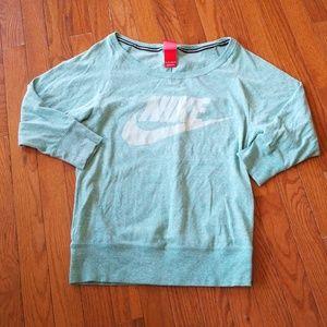 Nike Large Neck 3/4 Sleeve Crewneck Size XS